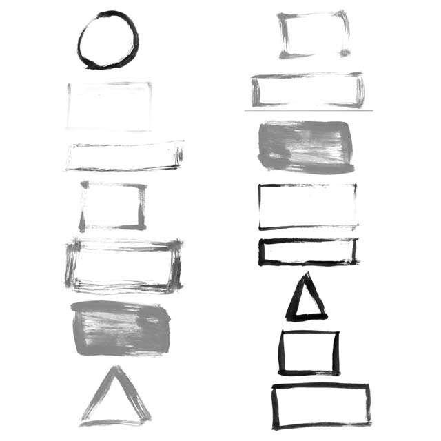 Grunge Frames Set 1 - Photoshop-Pinsel und Vektoren