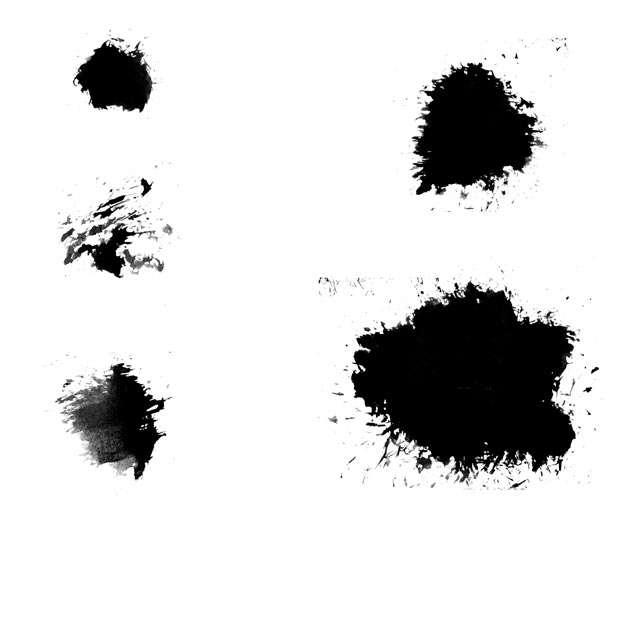 Splats Photoshop-Pinsel und Vektor