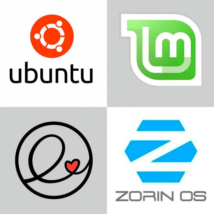 Logos von Ubuntu und -Derivaten
