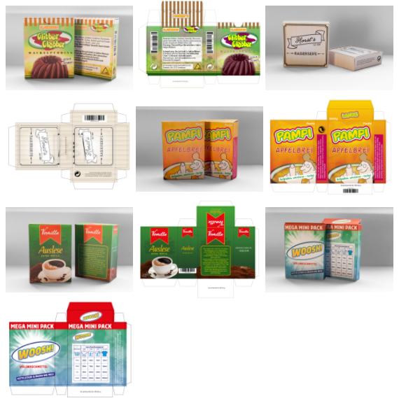 Schachteln für Kaufmannsladen - Vorschau